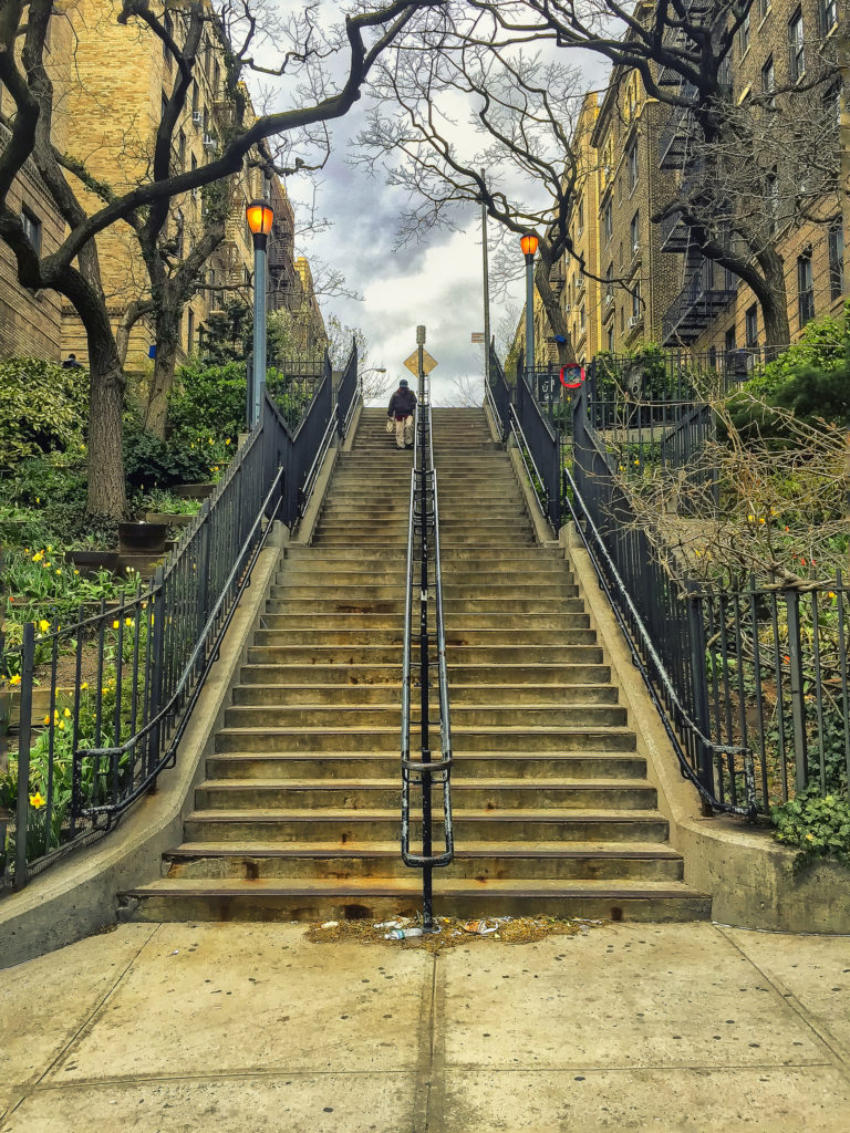 The Heights staircase Washington Heights Manhattan NYC Uptown
